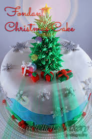 fondant christmas tree cake gretchen u0027s bakery