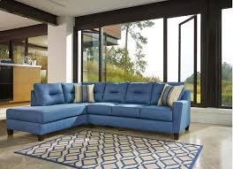 ashley furniture blue sofa kurwin nuvella collection 99603 16 sectional with stain resistant