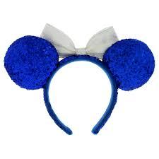 white and blue headband minnie mouse ears headband blue and white shopdisney