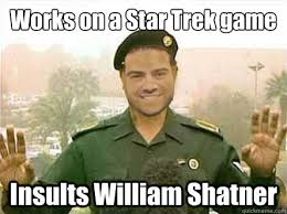 William Shatner Meme - demands attention from william shatner s twitter now sto is blocked