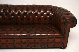 bureau chesterfield antique leather chesterfield sofa 1950 to 1960 from