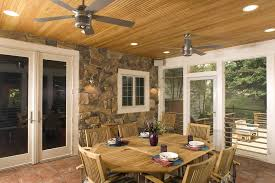 brushed nickel ceiling fan porch traditional with accent ceiling