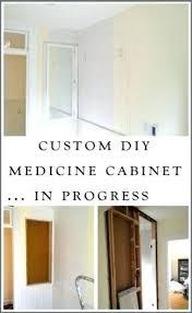Recessed Medicine Cabinet Wood Door How To Recess A Medicine Cabinet Recessed Medicine Cabinet