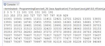 pattern with palindromic numbers solution manual chapter 6 exercise 26 introduction to java