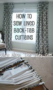 Tab Curtains Pattern 75 Easy Sewing Projects You Should Try Tab Curtains Tutorials