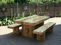 Wooden Patio Dining Set Large Wooden Outdoor Table Just Found The Table My Husband Will
