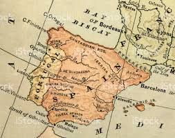 Spain Map Old Map Of Spain Stock Photo Istock