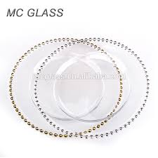 wedding plates cheap cheap wholesale wedding gold silver glass beaded charger plates