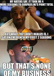 Kobe Bryant Memes - kobe bryant no3 all time scorer meme sports unbiased