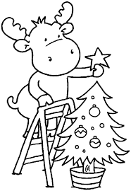 christmas moose coloring pages getcoloringpages