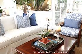3 Cushion Sofa Slipcover Pottery Barn by Chair U0026 Sofa Usual Slipcovered Sofas For Classic Sofa Idea