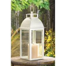 20 distressed ivory candle lantern wedding table centerpieces