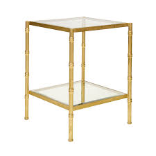 gold and glass table serena g iron side and occasional tables tables collection