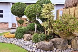 Black Garden Rocks Interior And Exterior Landscape Design With Rocks Black