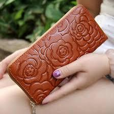otherchic vintage floral wallet women genuine leather wallets long