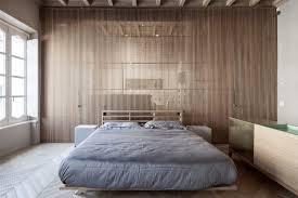 separation chambre decoration parquet bois clair chambre adulte cloison séparation