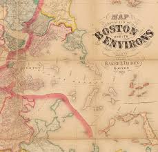 City Of Boston Map by Henry F Walling Map Of The Greater Boston Area Rare U0026 Antique Maps