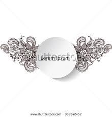 mehndi cards henna flowers mehndi design vector element stock vector 369642452
