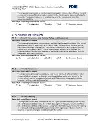 it security plan template