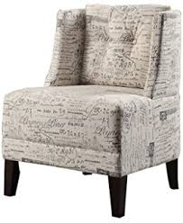 French Script Armchair Amazon Com Monarch Specialties Vintage French Fabric Accent Chair
