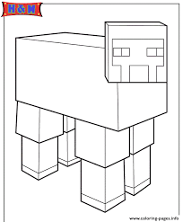 minecraft sheep coloring pages printable