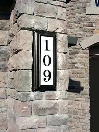 Lighted House Number Sign Lighted House Address Numbers Solar Plaques From Custom Home