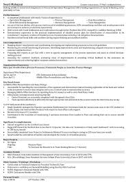 Example Finance Resume by Operations Resume Samples Resume Format For Operations
