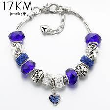 silver crystal heart bracelet images 17km vintage silver color charm glass bracelets for women 2017 new jpeg
