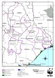 Mozambique Map Coastal Forests Of Kenya And Tanzania Mozambique
