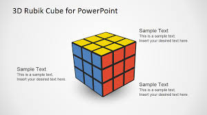 3d rubik cube powerpoint template slidemodel