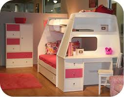 Bunk Bed With Desk And Trundle Endearing Bunk Beds With Stairs And Trundle Bunk Bed With Drawers