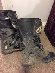 alpine motocross boots motocross enduro boots alpine stars also a pair of road boots
