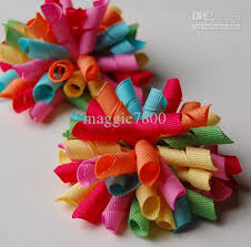 handmade hair bows korker bows rainbow hair bows handmade grosgrain ribbon