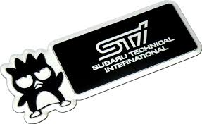 black subaru logo amazon com subaru technical international sti bad badtz badz batz