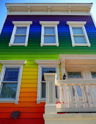 Painted Houses | cool colors 10 crazy painted houses home painting ideas