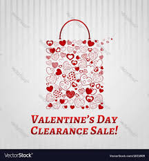 s day clearance shopping bag for valentines day royalty free vector image