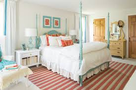 boston teal and coral bedroom traditional with turquoise bed frame