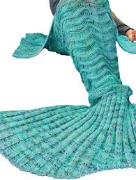 color sell mermaid tail blanket handmade crochet mermaid