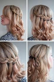 tutorial rambut waterfall the waterfall braid half updo 2013 hairstyles weekly