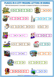 places in a city esl printable worksheets and exercises