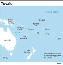 map of tuvalu sinking pacific nation is getting bigger study
