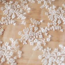 wedding dress material lace floral embroidery fabric bridal wedding dress material mesh
