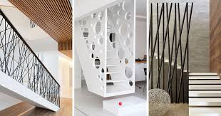 house stairs 11 creative stair railings that are a focal point in these modern