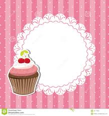 Invitation Cards Free Download Cherry Cupcake Invitation Card Royalty Free Stock Image Image