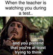 College Test Meme - a student s face when the teacher is watching him during a test