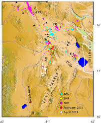 Proportional World Map by Seismicity Of The Central Afar Rift And Implications For Tendaho