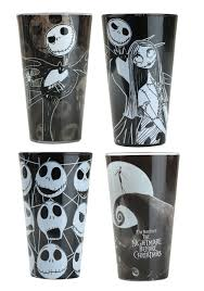 nightmare before 4pc 16oz colored pint glass set