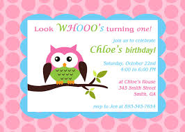 birthday invites fascinating owl birthday invitations ideas