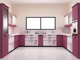 matte pink kitchen cabinet set pink circle pattern kitchen