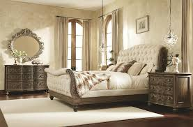 White Leather Sleigh Bed Tufted Bed Frame Wilson Grey Fabric Ottoman Bed Frame White